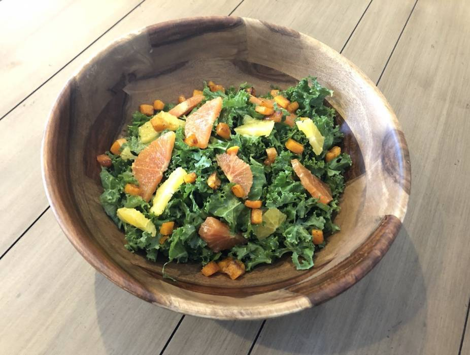 Kale Salad with Citrus and Butternut Squash