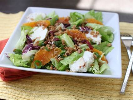 Crunchy Citrus and Goat Cheese Salad