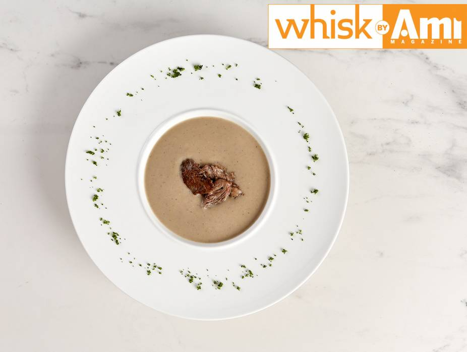 Chestnut Soup with Lamb Croutons