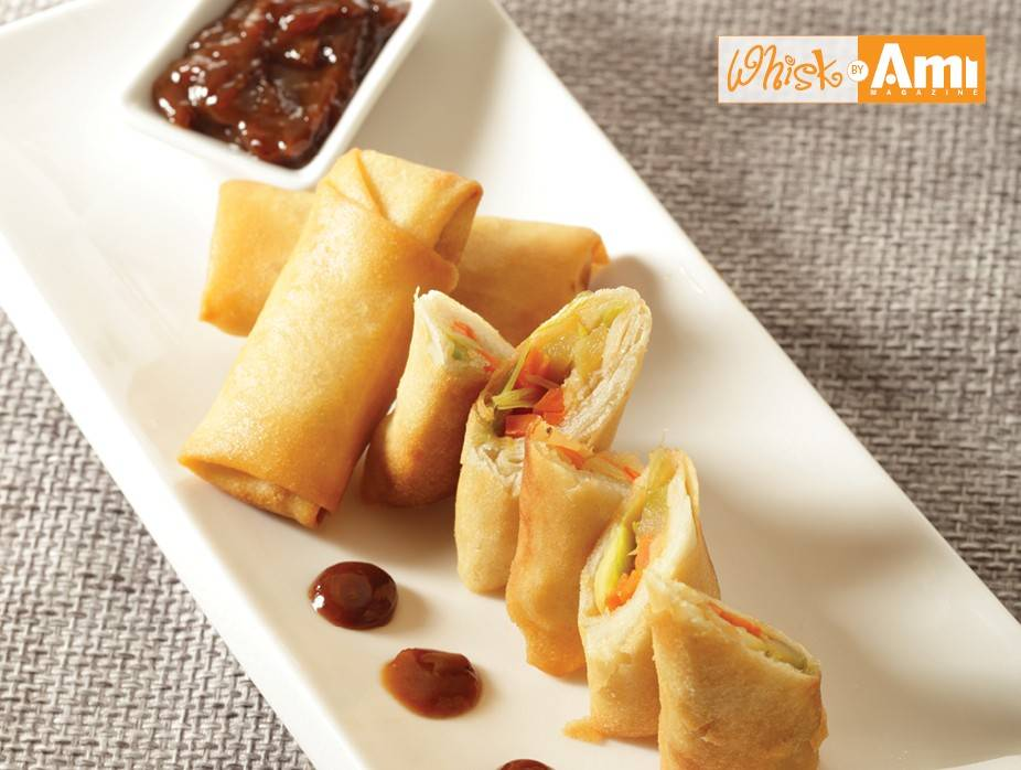 Crunchy Spring Rolls with Honey-Teriyaki Dipping Sauce