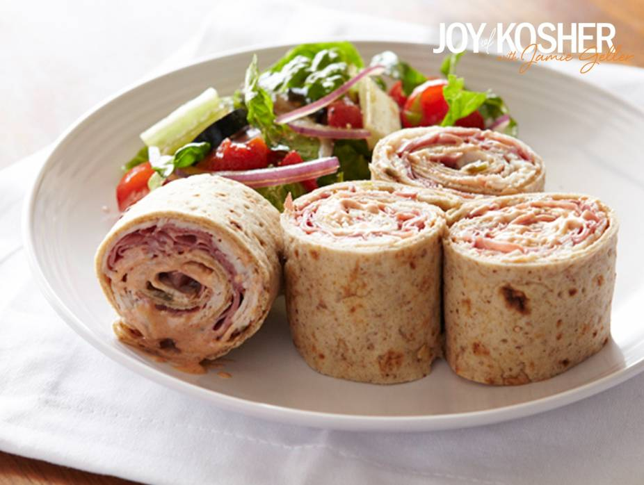 Deli Roll Pinwheels with Chopped Salad