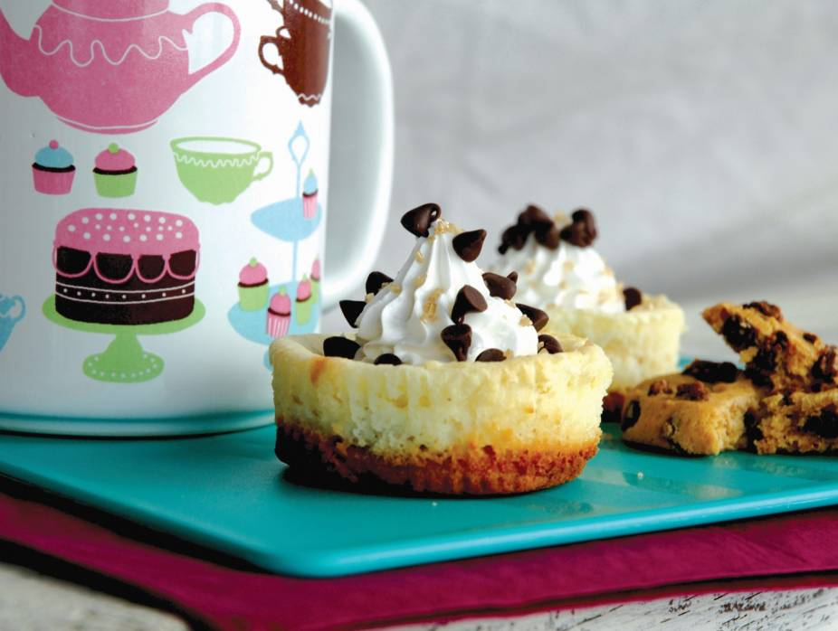 Cookie-Bottom Individual Cheesecakes