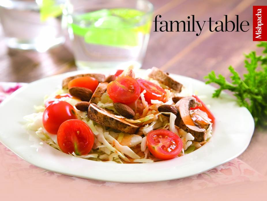 Cabbage-Mushroom Salad with Piquant Dressing