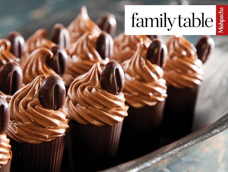 Chocolate Cups with Chocolate Filling