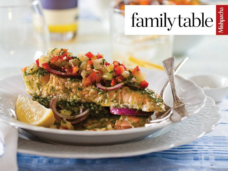 Lox-Style Salmon with Fruit Salsa