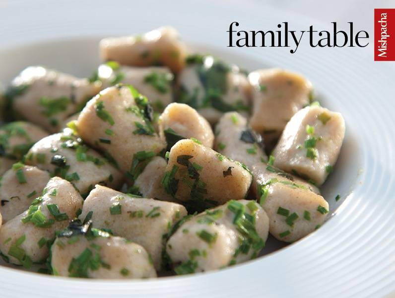Ricotta Gnocchi with Basil and Chives