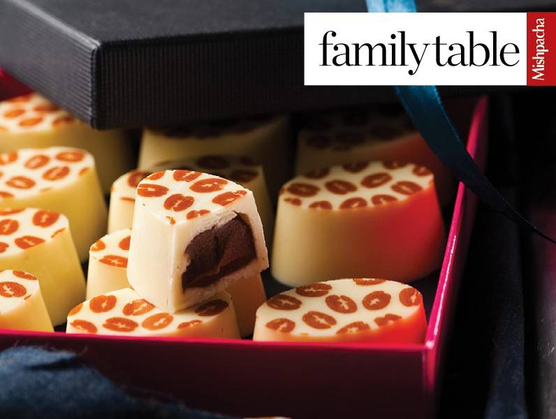 White Chocolate Pralines with Coffee Filling