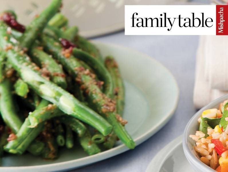 Green Beans with Cranberry Pesto