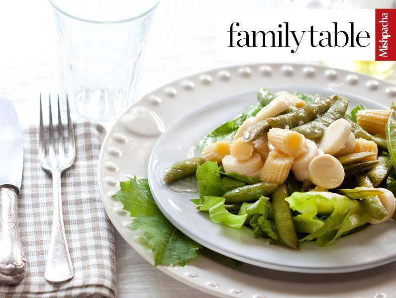 Baby Corn, Snap Pea, and Heart of Palm Salad