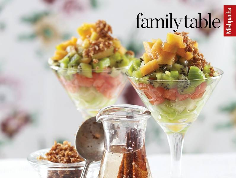 Fruit Cup with Brandy Sauce