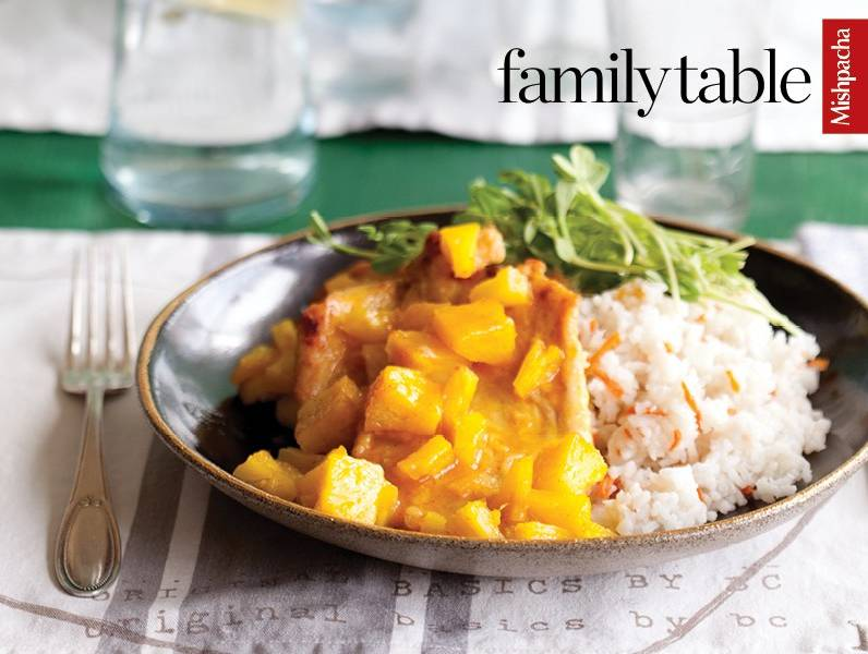 Braised Chicken in Curried Pineapple Sauce