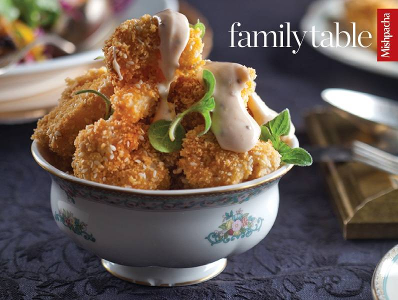 Breaded Cauliflower with Srirachanaise Dipping Sauce