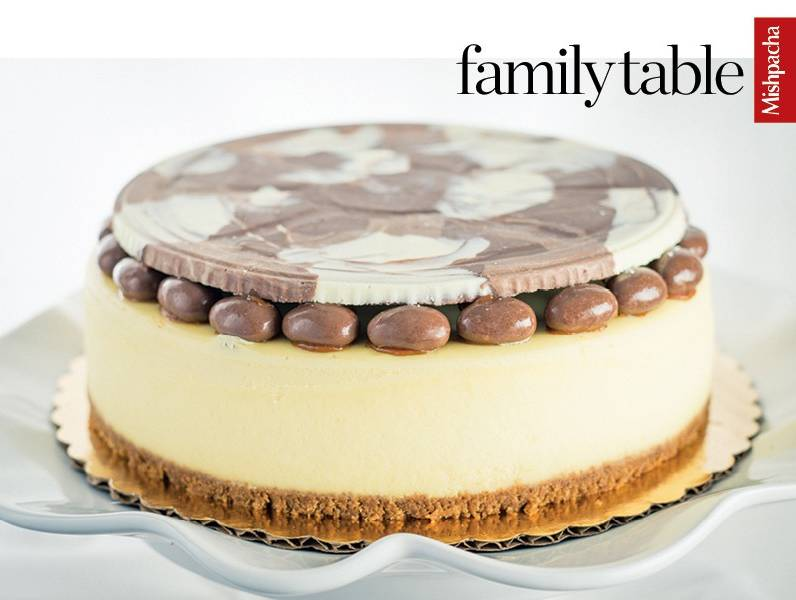 Chocolate Marble Disc Cheesecake Topper