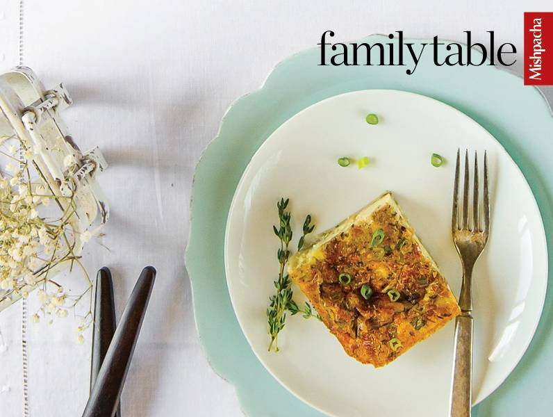 Leek and Lox Quiche