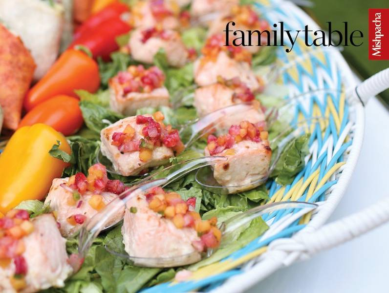 Salmon Cubes with Fruity Salsa