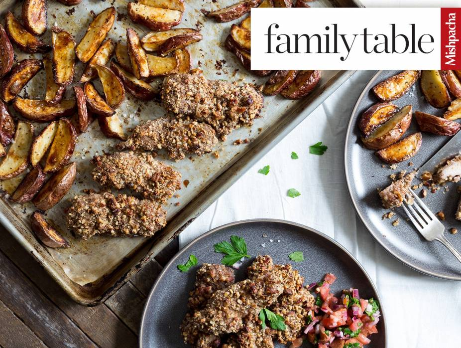 Crispy Potato Wedges and Pecan-Crusted Chicken