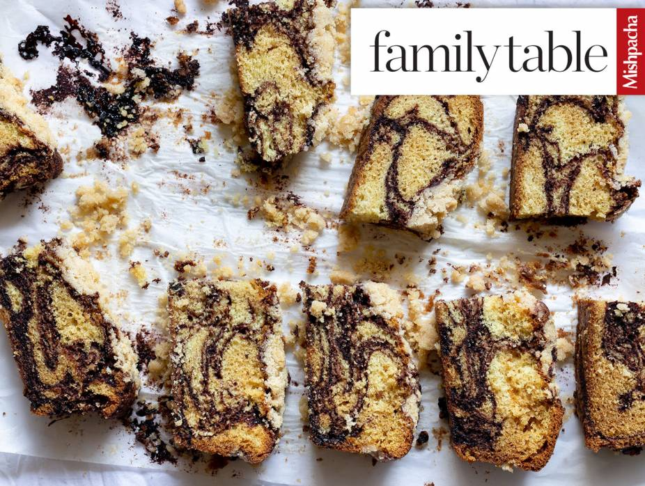 Decadent Marble Cake with Crumb Topping