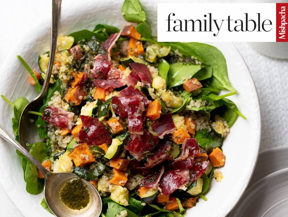 Spinach Salad with Basil Dressing