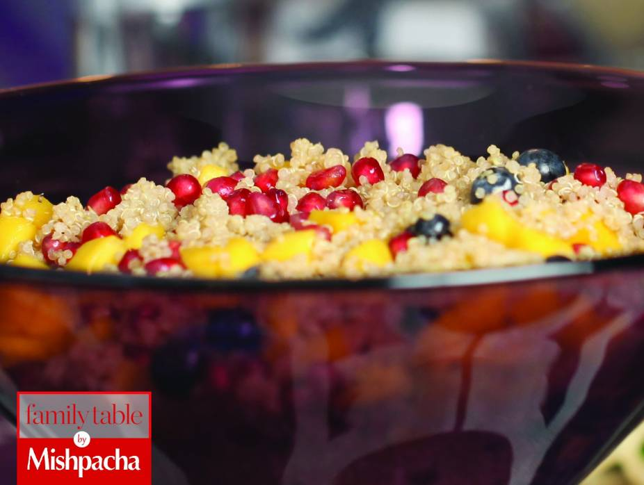 Fruity Quinoa Salad with Pomegranate, Mango, and Blueberries