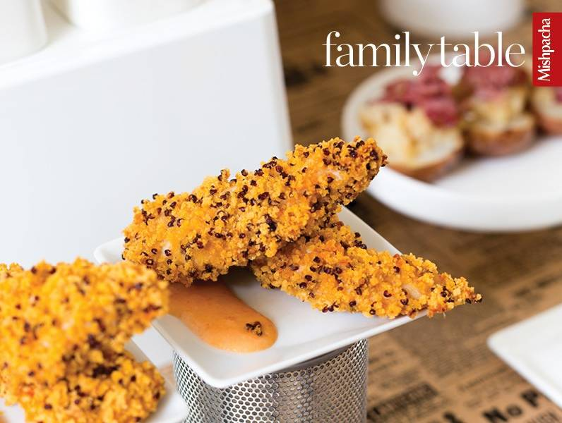 Crunchy Chicken Fingers with Sweet 'n' Spicy Dipping Sauce