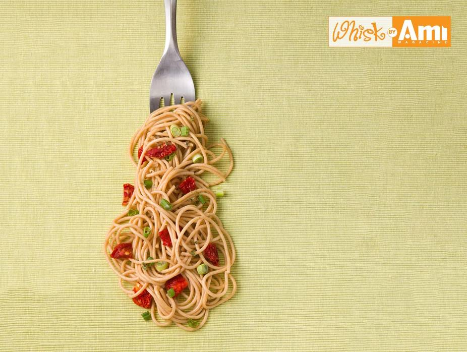 Garlic Whole Wheat Spaghetti