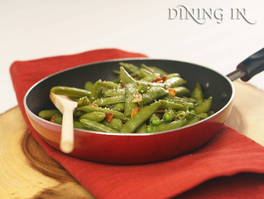 Quick and Easy Garlic Snap Peas