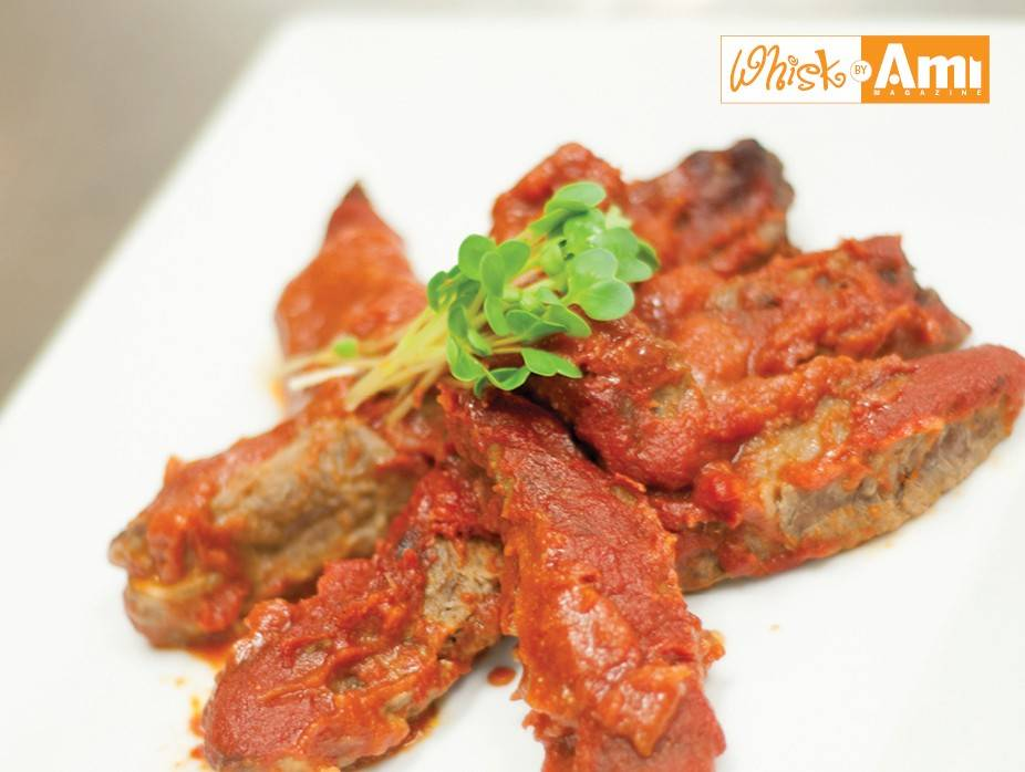 Glazed Boneless Spare Ribs with Barbecue Sauce