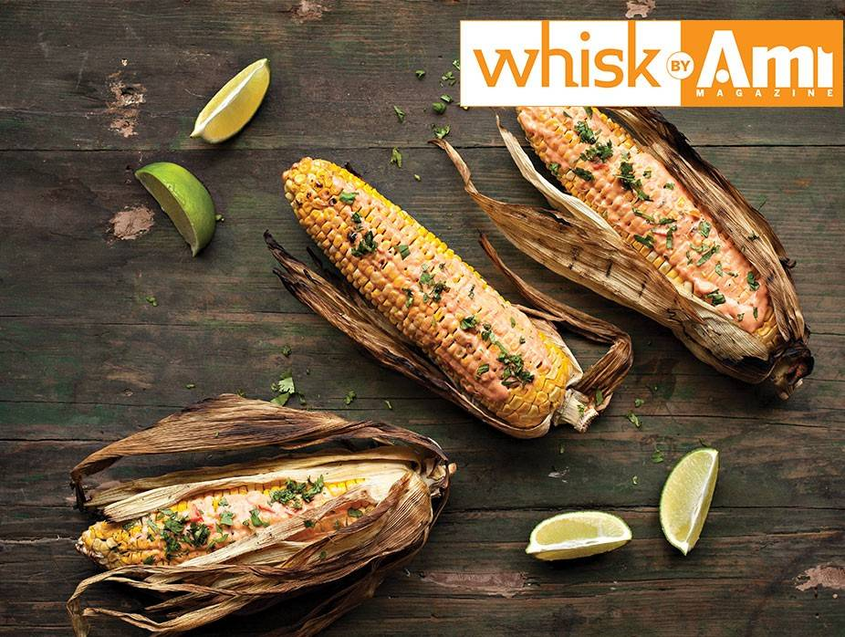 Grilled Corn with Harissa Mayo