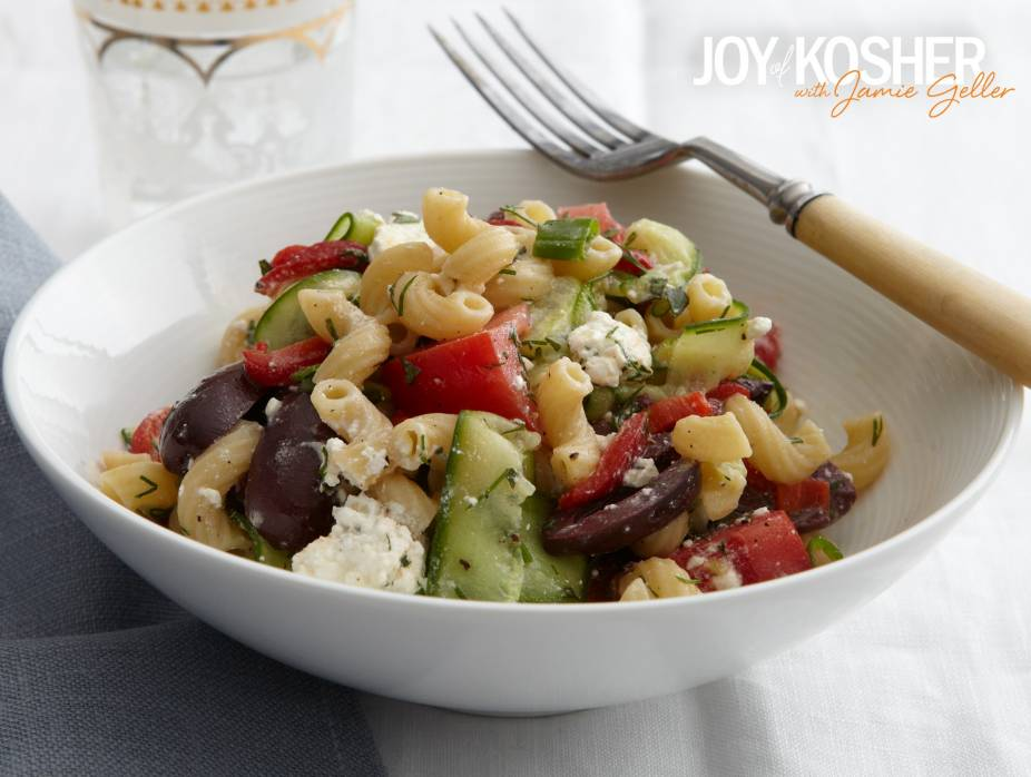 Greek Chopped Salad with Noodles