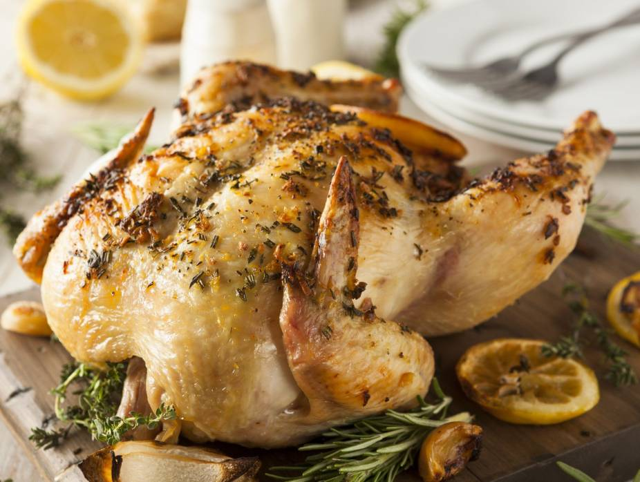 Herbed Roasted Chicken with Quinoa-Mushroom Pilaf