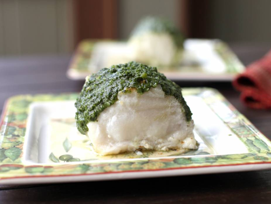 Herb Covered Sea Bass