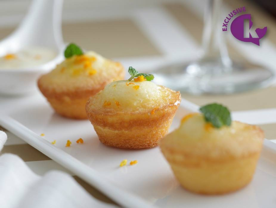 Seasons of a Pastry Chef: Olive Oil and Lemon Mini Cupcakes with Citrus Glaze