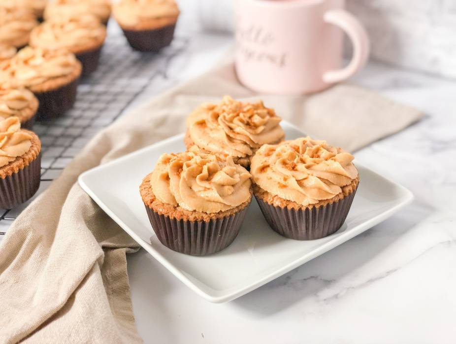 Cookie Butter Cupcakes with Espresso Buttercream