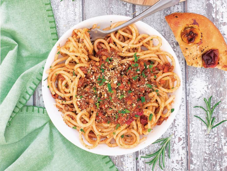 Rich and Saucy Meatless Bolognese
