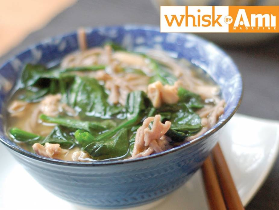 Miso Udon and Chicken Soup