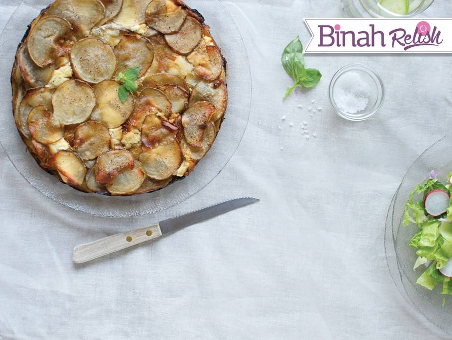 Potato and Caramelized Onion and Goat Cheese Galette