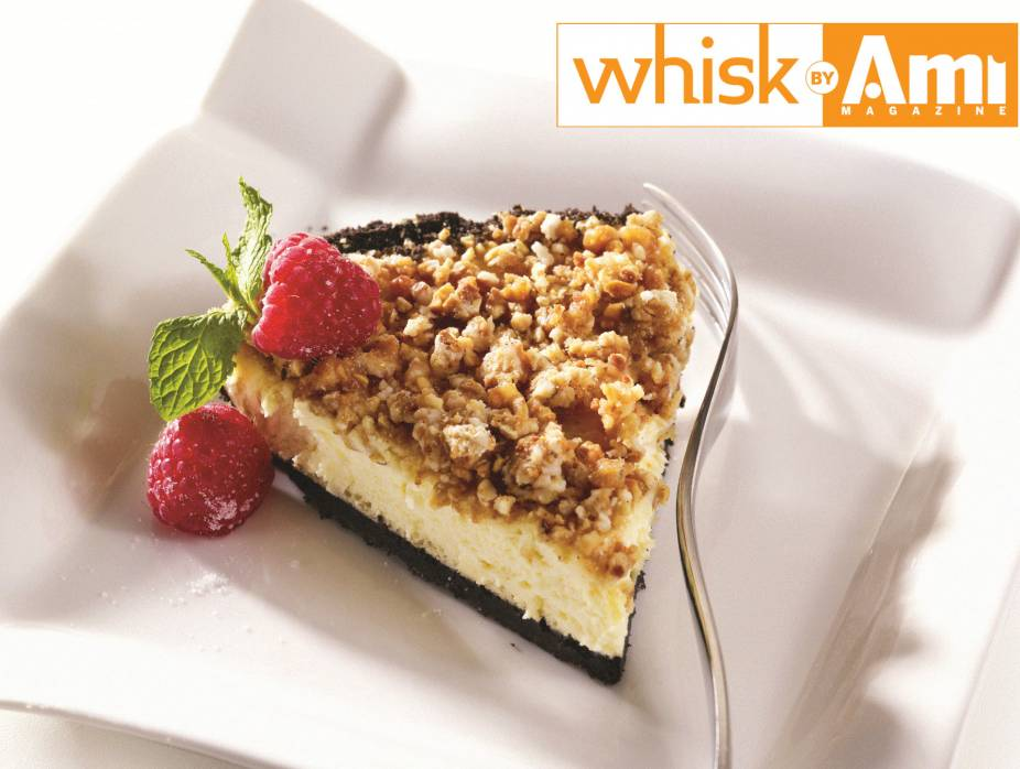Parve Cheese Mousse with White Viennese Crunch