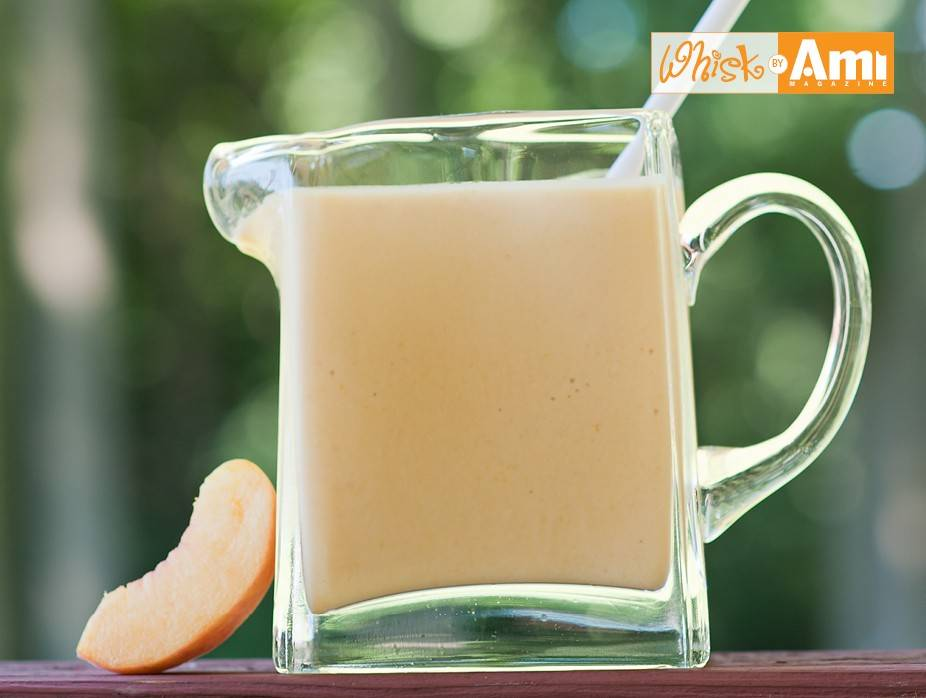 Poached Peaches and Cream Smoothie