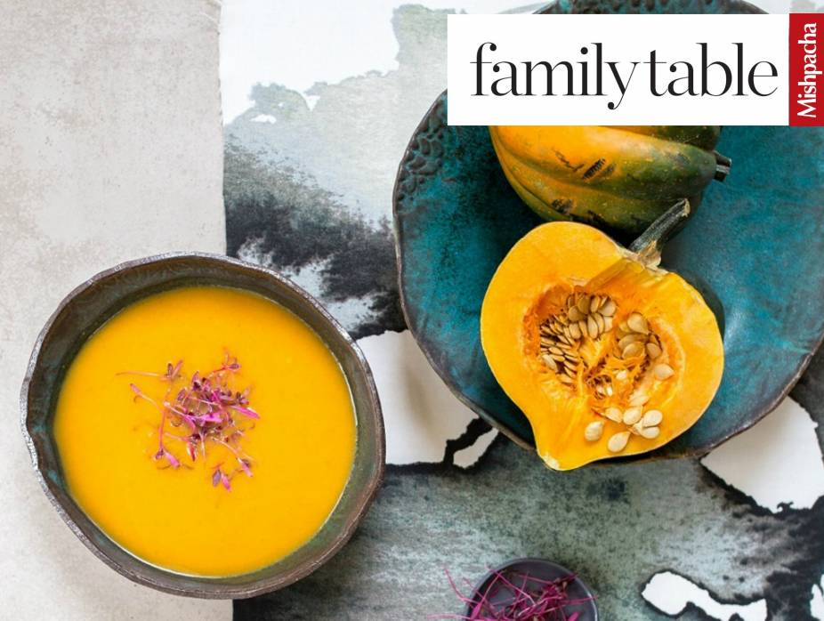 Pumpkin Soup with Pan Fried Pumpkin Seed Crunch