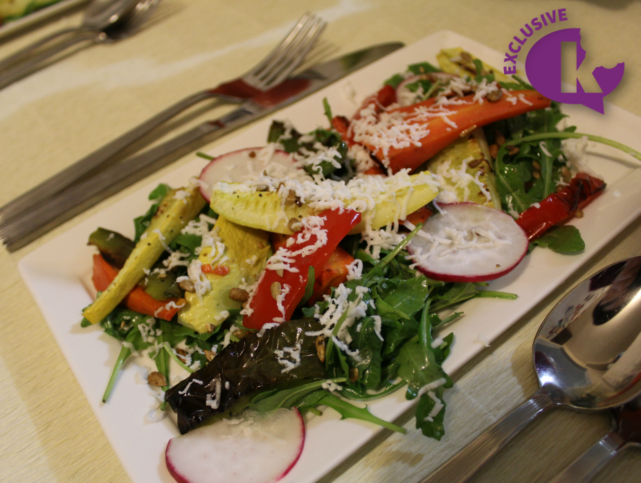 Warm Roasted Vegetable Salad with Feta Cheese