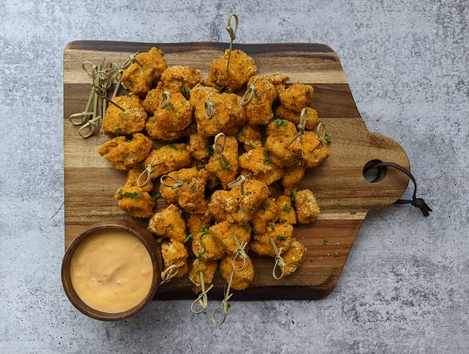 Chinese Chicken Poppers with Spicy Aioli