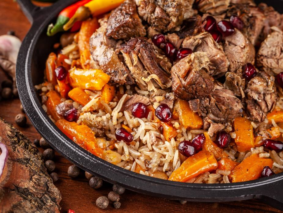 Rosh Hashanah Plov with Barberries, Pomegranate, and Quince