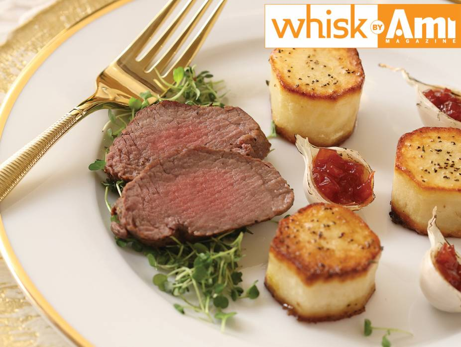 Oyster Steak with Onion Jam and Fondant Potatoes
