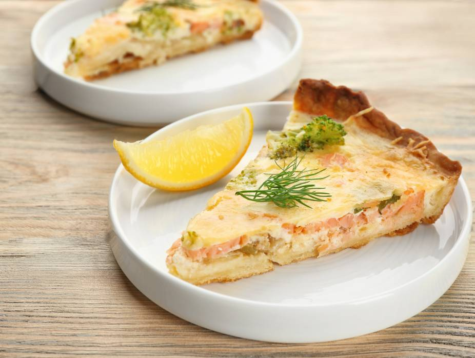 No-Margarine Salmon Quiche