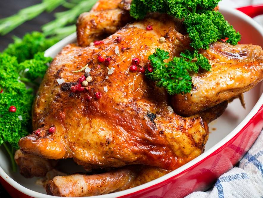Chicken with Beer and Tomatoes
