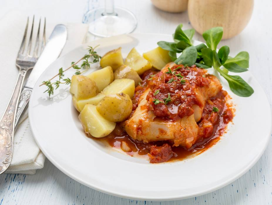 Sole with Special Tomato Sauce