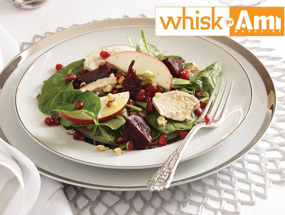 Spinach, Apple, and Beet Salad