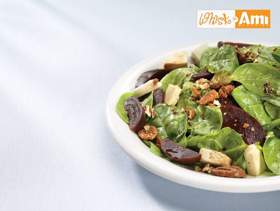 Spinach Salad with Beets and Pecans