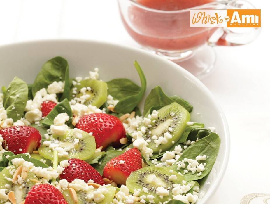 Spinach Salad with Fresh Fruit