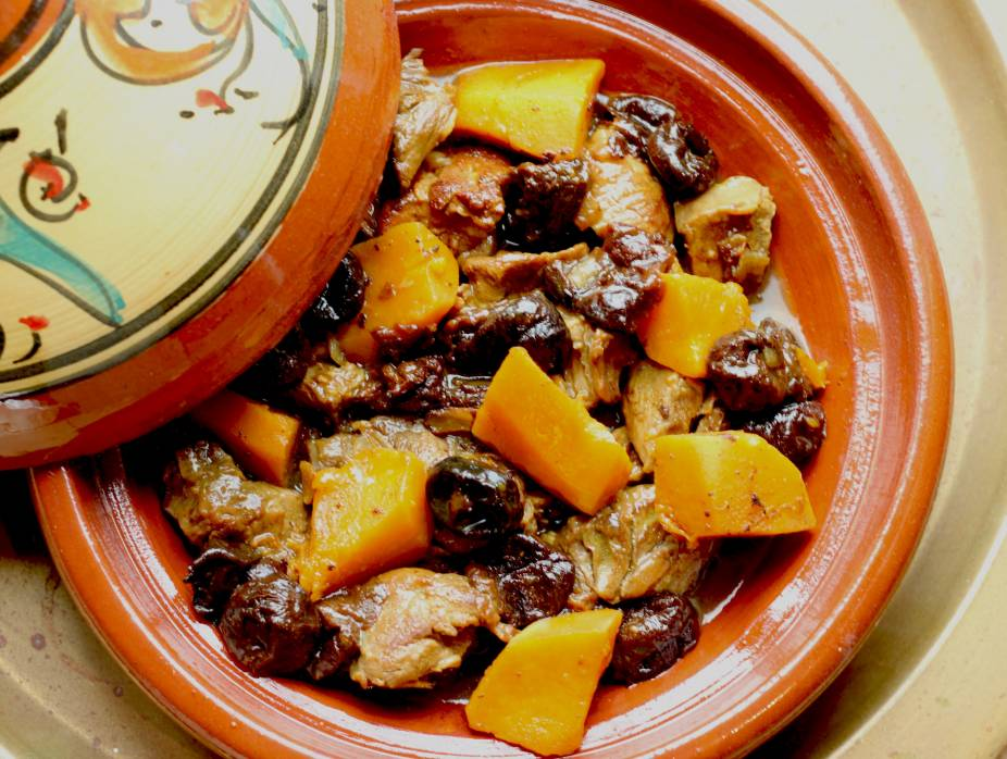 Tagine of Veal, Dried Prunes and Squash with Cardamom